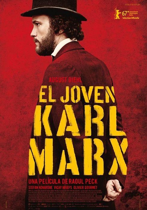 Cartel oficial en español de: El joven Karl Marx