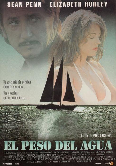 Cartel oficial en español de: El peso del agua