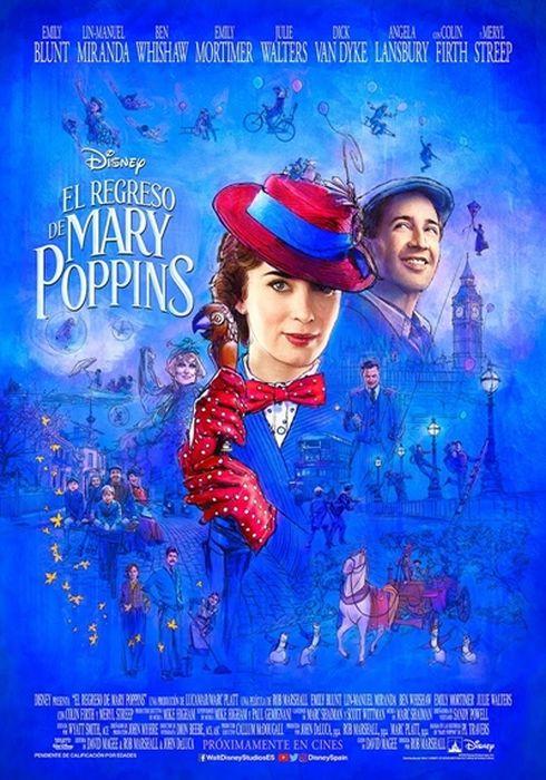 Cartel oficial en español de: El regreso de Mary Poppins
