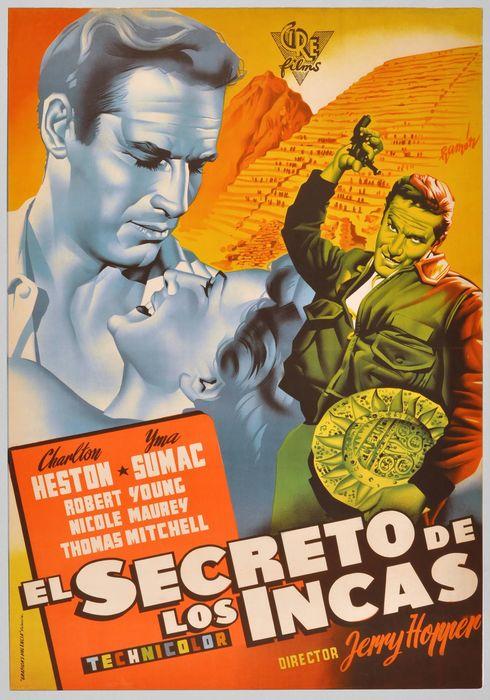 Cartel oficial en español de: El secreto de los incas