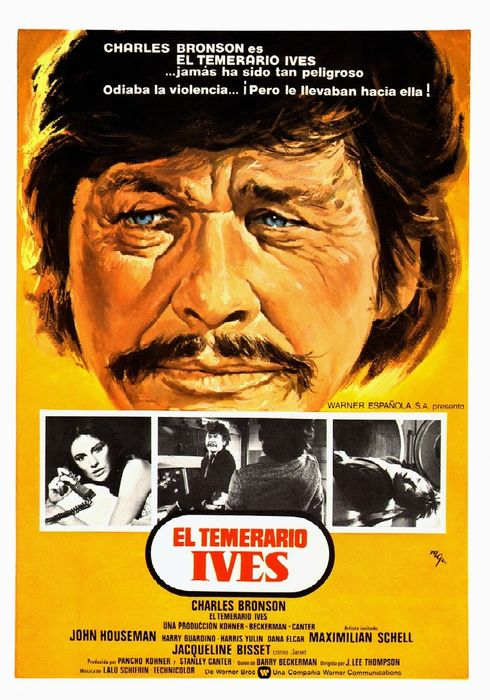 Cartel oficial en español de: El temerario Ives