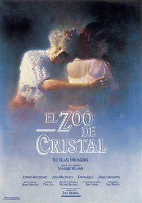 Cartel oficial en español de: El zoo de cristal