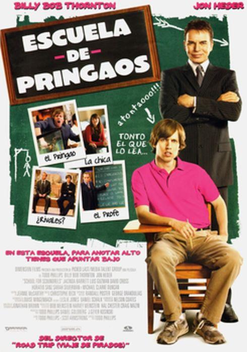 Cartel oficial en español de: Escuela de pringaos