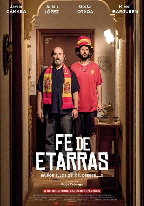 Cartel oficial en español de: Fe de etarras