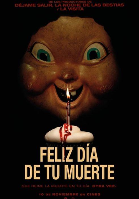 Cartel oficial en español de: Feliz día de tu muerte