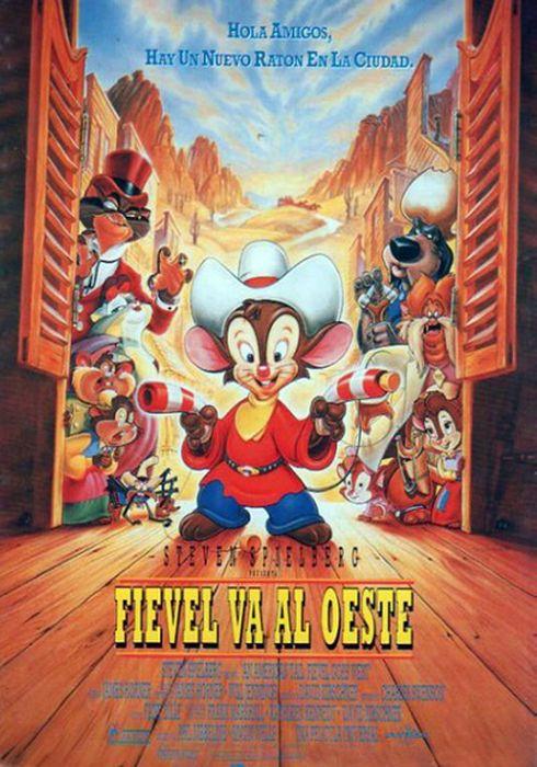 Cartel oficial en español de: Fievel va al Oeste