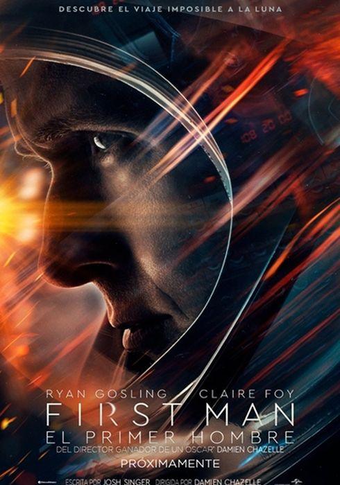 Cartel oficial en español de: First Man (El primer hombre)