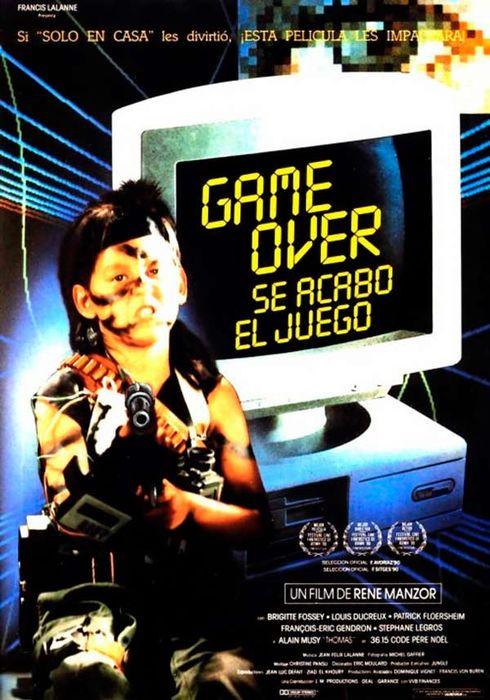 Cartel oficial en español de: Game Over: Se acabó el juego