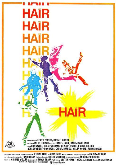 Cartel oficial en español de: Hair