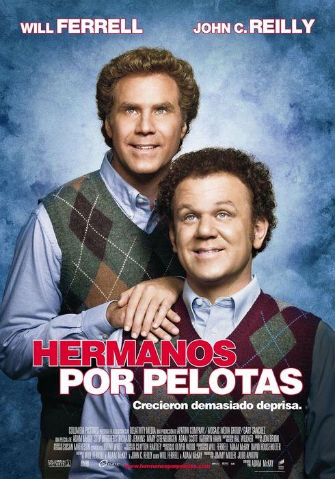 Cartel oficial en español de: Hermanos por pelotas