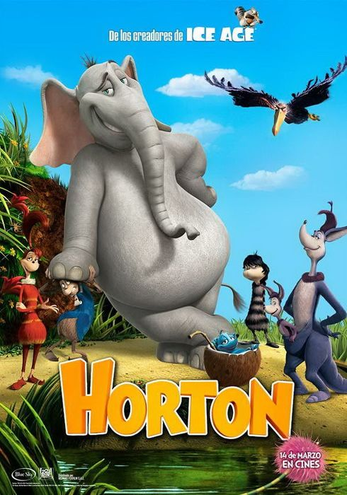 Cartel oficial en español de: Horton