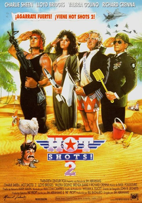 Cartel oficial en español de: Hot Shots 2