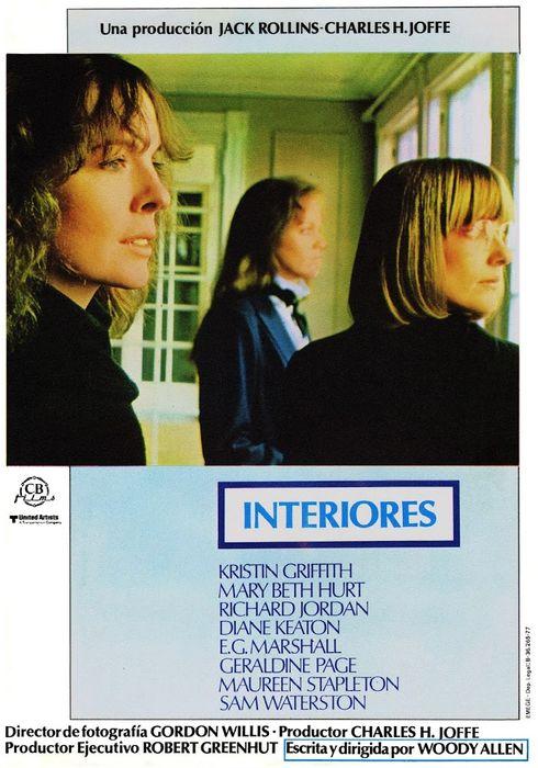 Cartel oficial en español de: Interiores