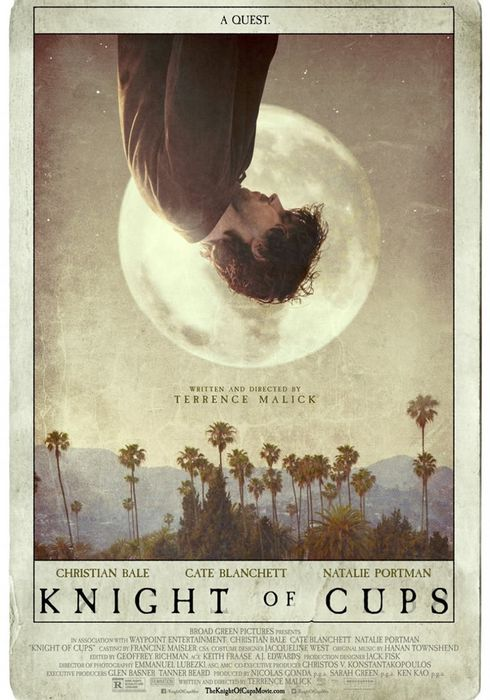 Cartel oficial en español de: Knight of Cups