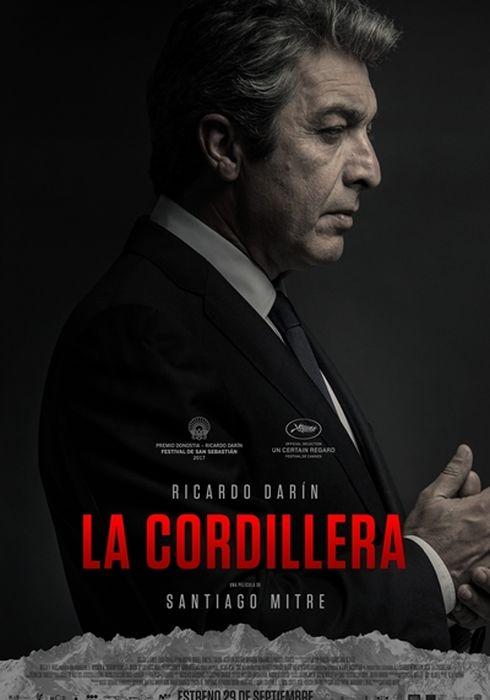 Cartel oficial en español de: La cordillera