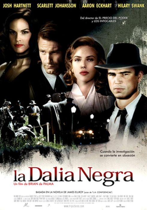 Cartel oficial en español de: La dalia negra