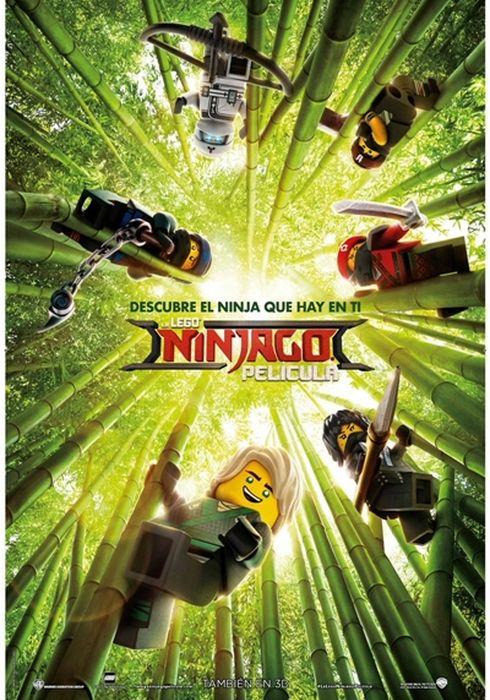 Cartel oficial en español de: La LEGO Ninjago Película
