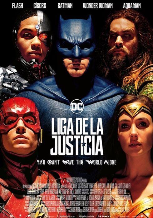 Cartel oficial en español de: Liga de la Justicia