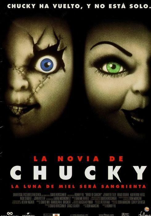Cartel oficial en español de: La novia de Chucky