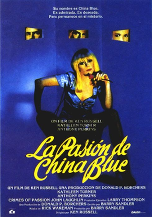 Cartel oficial en español de: La pasión de China Blue