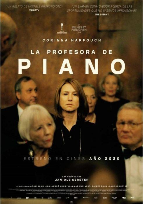 Cartel oficial en español de: La profesora de piano