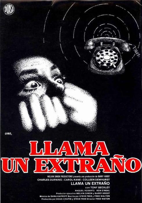 Cartel oficial en español de: Llama un extraño