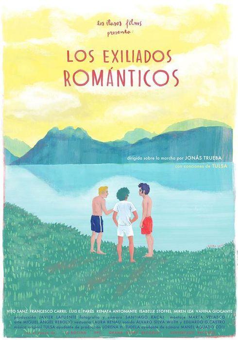 Cartel oficial en español de: Los exiliados románticos