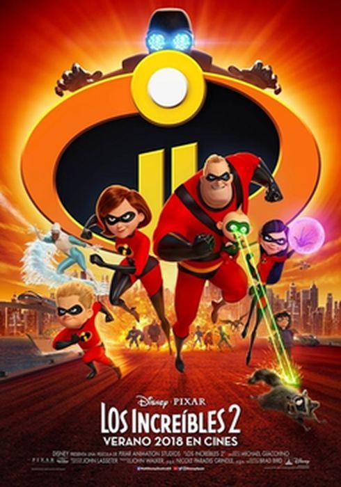 Cartel oficial en español de: Los Increíbles 2