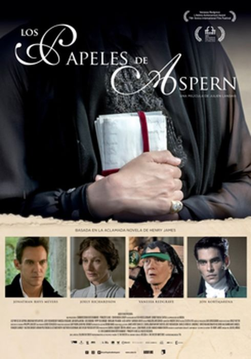 Cartel oficial en español de: Los papeles de Aspern