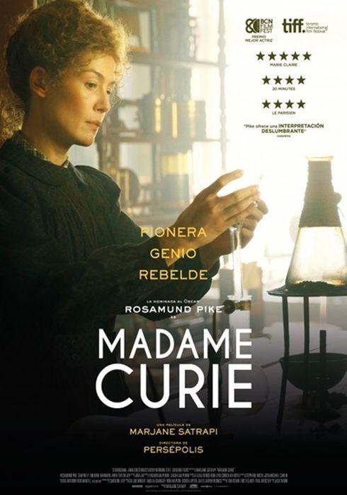Cartel oficial en español de: Madame Curie (2019)