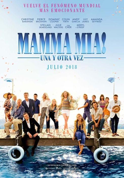 Cartel oficial en español de: Mamma Mia: una y otra vez