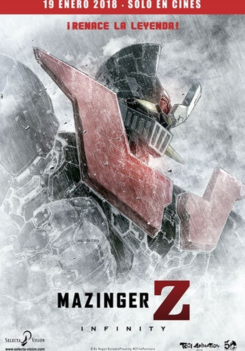 Cartel oficial en español de: Mazinger Z Infinity
