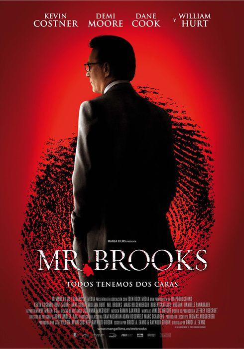 Cartel oficial en español de: Mr. Brooks