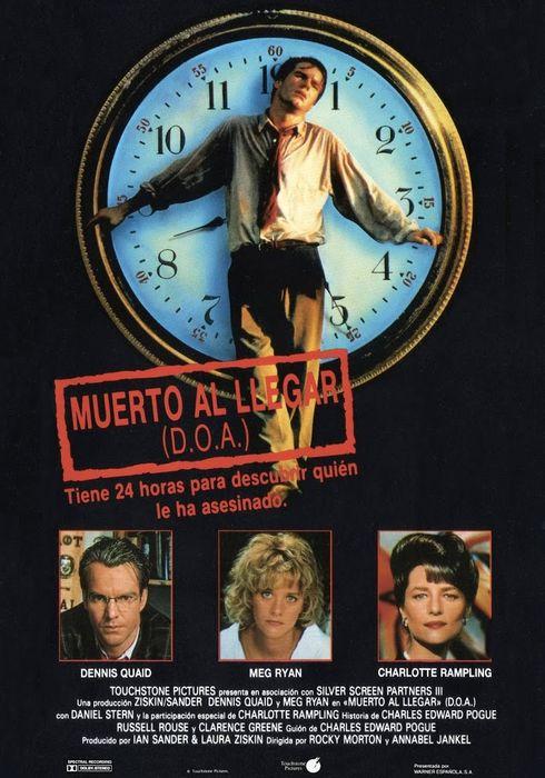 Cartel oficial en español de: Muerto al llegar