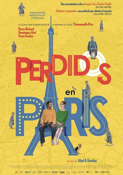 Cartel oficial en español de: Perdidos en París
