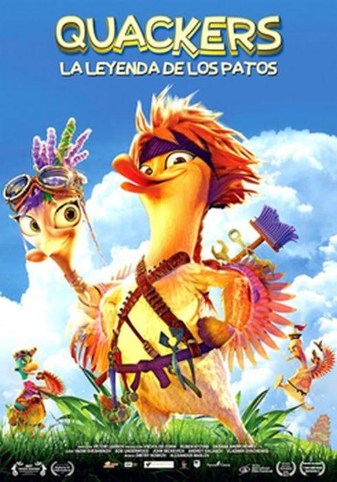 Cartel oficial en español de: Quackers. La leyenda de los patos