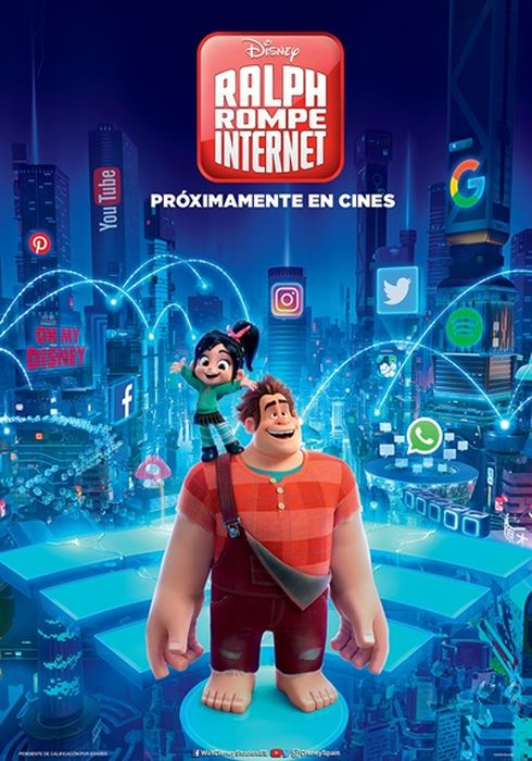 Cartel oficial en español de: Ralph rompe Internet
