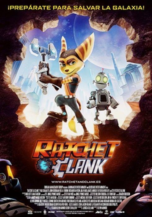 Cartel oficial en español de: Ratchet & Clank