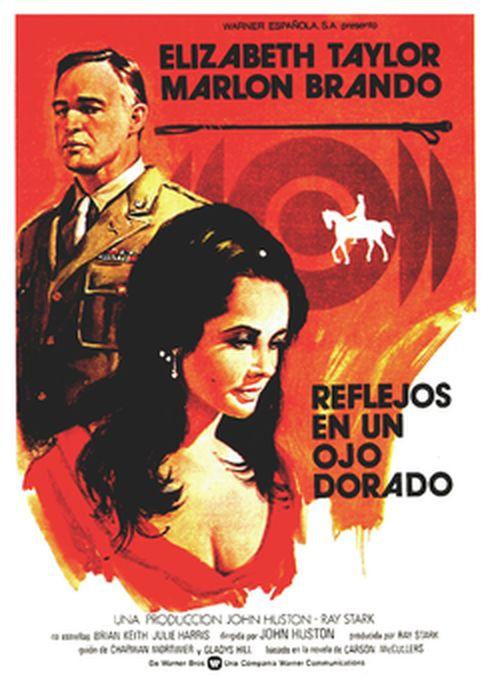 Cartel oficial en español de: Reflejos en un ojo dorado