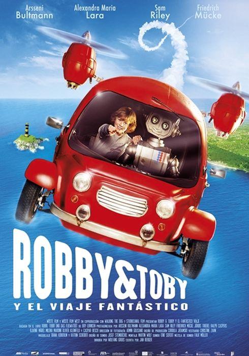 Cartel oficial en español de: Robby y Tobby en el viaje fantástico