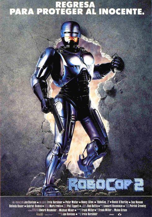 Cartel oficial en español de: RoboCop 2