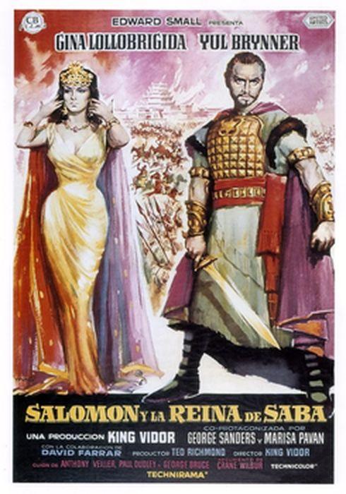 Cartel oficial en español de: Salomón y la reina de Saba