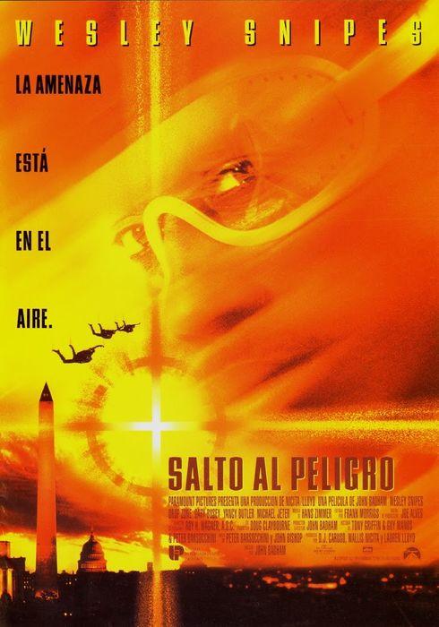 Cartel oficial en español de: Salto al peligro