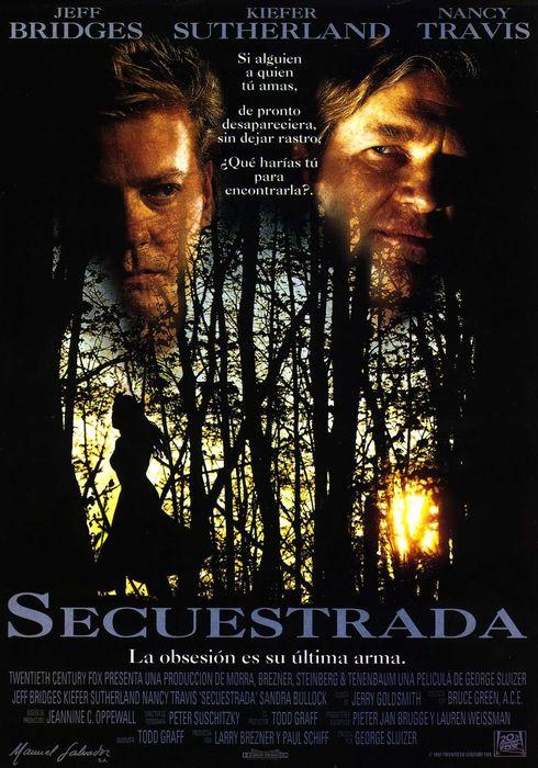 Cartel oficial en español de: Secuestrada