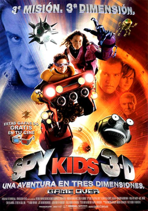 Cartel oficial en español de: Spy Kids 3D: Game Over