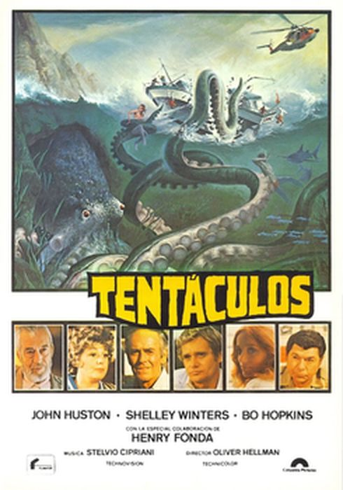 Cartel oficial en español de: Tentáculos