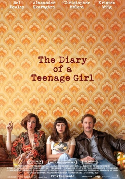 Cartel oficial en español de: The Diary of a Teenage Girl