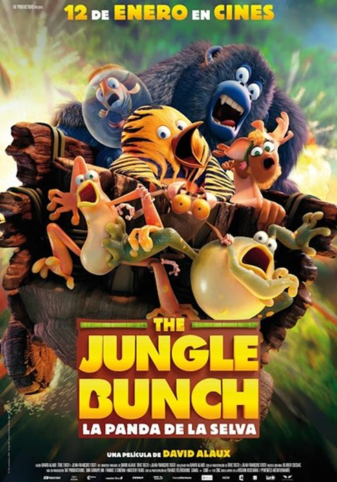 Cartel oficial en español de: The Jungle Bunch: La panda de la selva