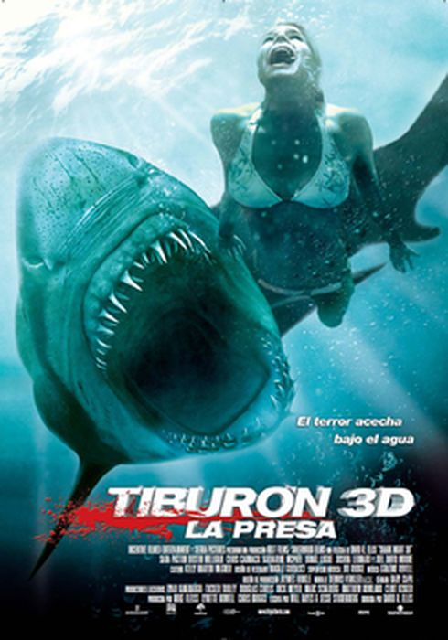 Cartel oficial en español de: Tiburón 3D: La presa