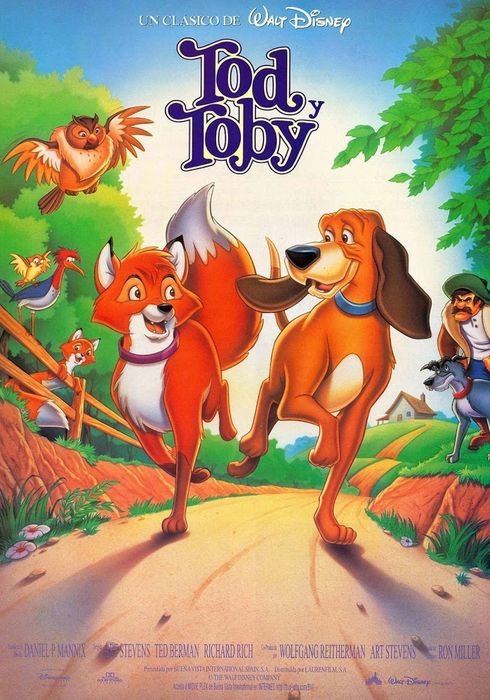 Cartel oficial en español de: Tod y Toby